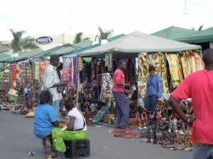 Sunday market at the Arcades mall parking lot
