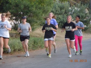 The running group in action!